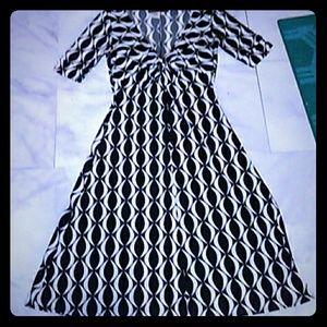Donna Morgan black and white dress